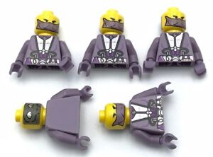 Lego-5-Zam-Wesell-Minifigure-Torsos-with-Heads-no-Legs-Body-Parts