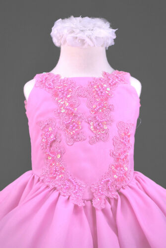 Toddler /& Girl Formal Dress for Pageant Dance Wedding Party Green Fuchsia Blue
