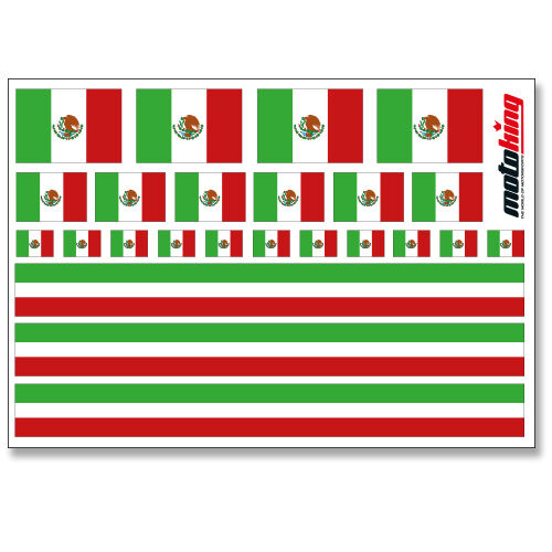 MEXIKO AUFKLEBERFLAGGEN STICKERHELM FAHRRAD MODELLBAU BOBBYCAR AUTO
