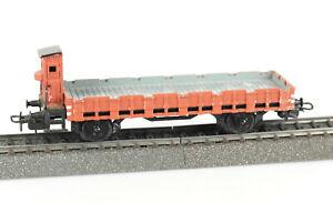 Marklin-Spur-h0-323-baja-bordo-carro-con-bremserhaus-DRG-fundicion-vintage-embalaje-original