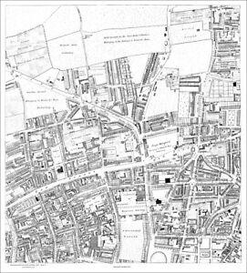 Old Street London Map.Details About St Luke S Old Street London Map 1813 1 5