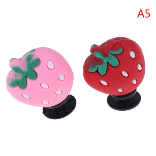 1pcs PVC Shoe Charms RED Color Cartoon Shoe Buckles Accessories Fit Ban UR