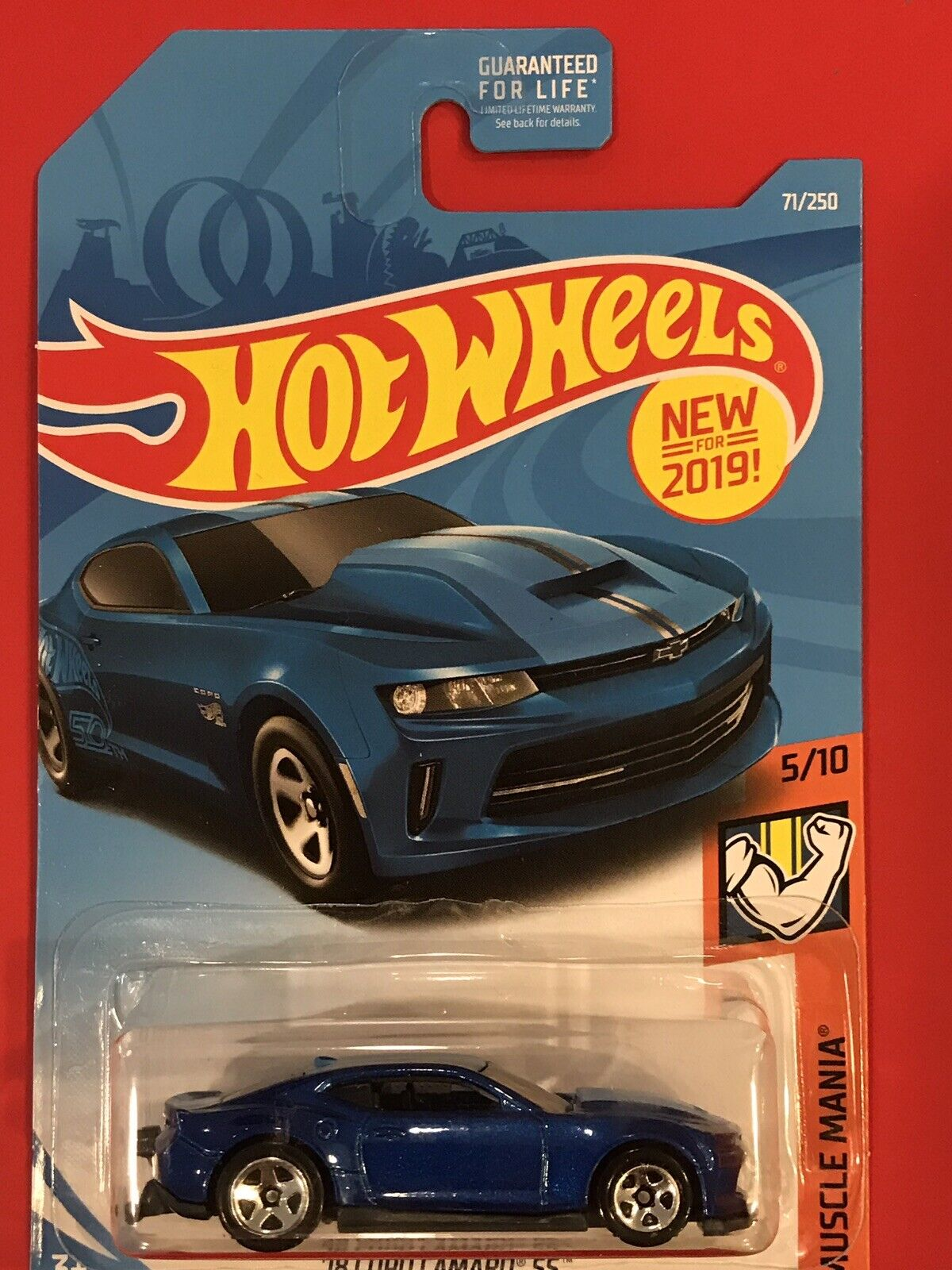 2019 Hot Wheels MUSCLE MANIA 5 10 '18 Copo Camaro SS 71 250 - SIDE TAMPO MISSING