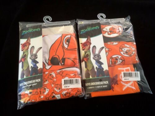 Pack Of 5 Boys Underwear Singlet Socks Brief Undies Vest Disney Zootopia NEW