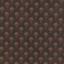 ALICES SCRAPBAG~BY 1/2 YD~MODA FABRIC~8314-13~CIVIL WAR~PAISLEY/ CHOCOLATE BROWN