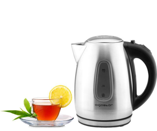 Edelstahl Wasserkocher Gut & Günstig 1,7 Liter 2200 Watt