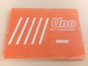 FIAT UNO LIBRETTO USO E MANUTENZIONE 45 45S E.S. 55 55S 70 70S 3 5 ...