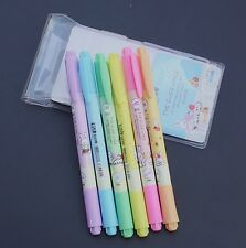 RUI Sweet Cake rabbits cute kawaii kitsch set of 6 double ended highlighter pens