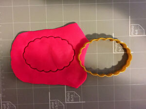 Scalloped oval Cookie Cutter Select your own size