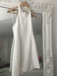 Zara-White-Halter-neck-Dress