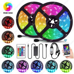 RGB Waterproof LED Strip Light 32.8 Feet 300 5050 SMD 44 Key Remote 12V DC Power