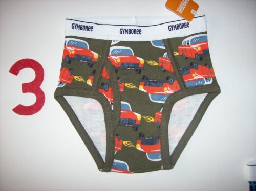 Gymboree Boys Underwear One Brief Style Size XXS 2Toddler Assorted New