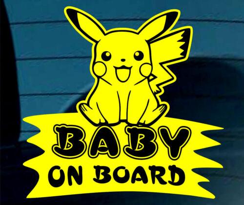 Baby On Board SELF ADHESIVE STICKER Sign Child Kids Car Window Safety Pokemon +