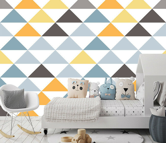 3D Farbe Triangle Pattern 46 Wallpaper Murals Wall Print Wallpaper Mural AJ WALL