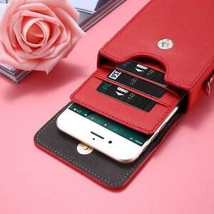 Shoulder-Bag-Case-Universal-Leather-Handbag-Neck-Strap-Wallet-Pouch-Purse-Cover