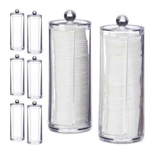 8 x Wattepads Aufbewahrung Wattepadorganizer Wattepadshalter Padaufbewahrung