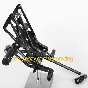 CNC Adjust Rearset Footpeg Foot Pegs For Kawasaki ZX-14R//ABS 2012-2016 2013 2014