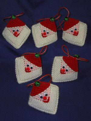 Jingle Bell Santa Squeezums Handmade Plastic Canvas