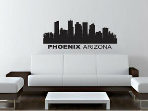 Wall Decal Sticker Phoenix Arizona Skyline 22 x 52 Home