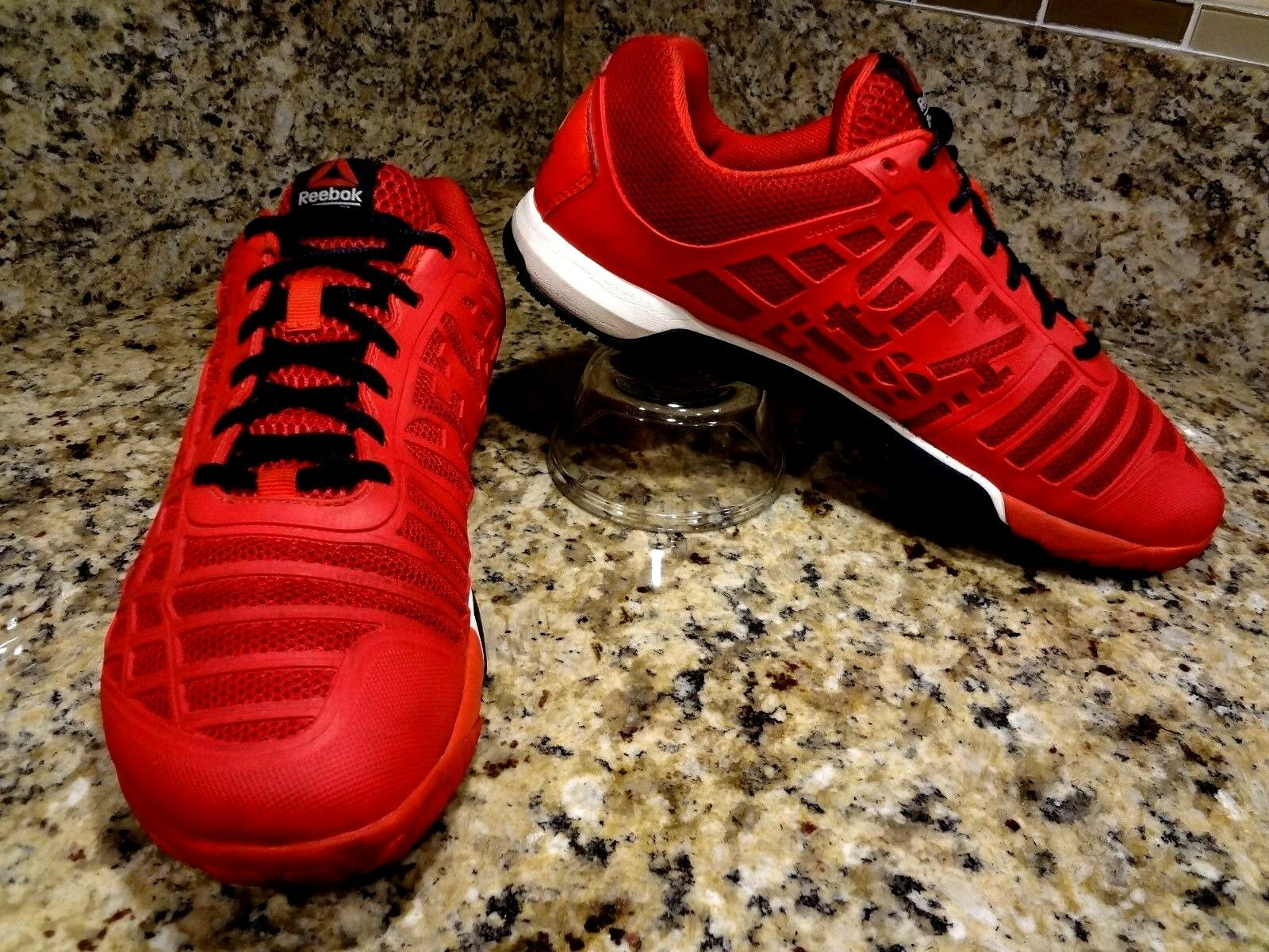 SIZE /US 10 ~ REEBOK CROSSFIT ~ MAN GENTS SHOES RED SNEAKERS EUC