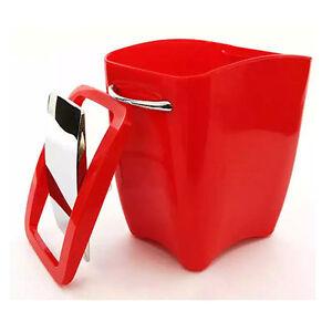 Image Is Loading Trash Can Waste Basket Red Office Bedroom Bathroom