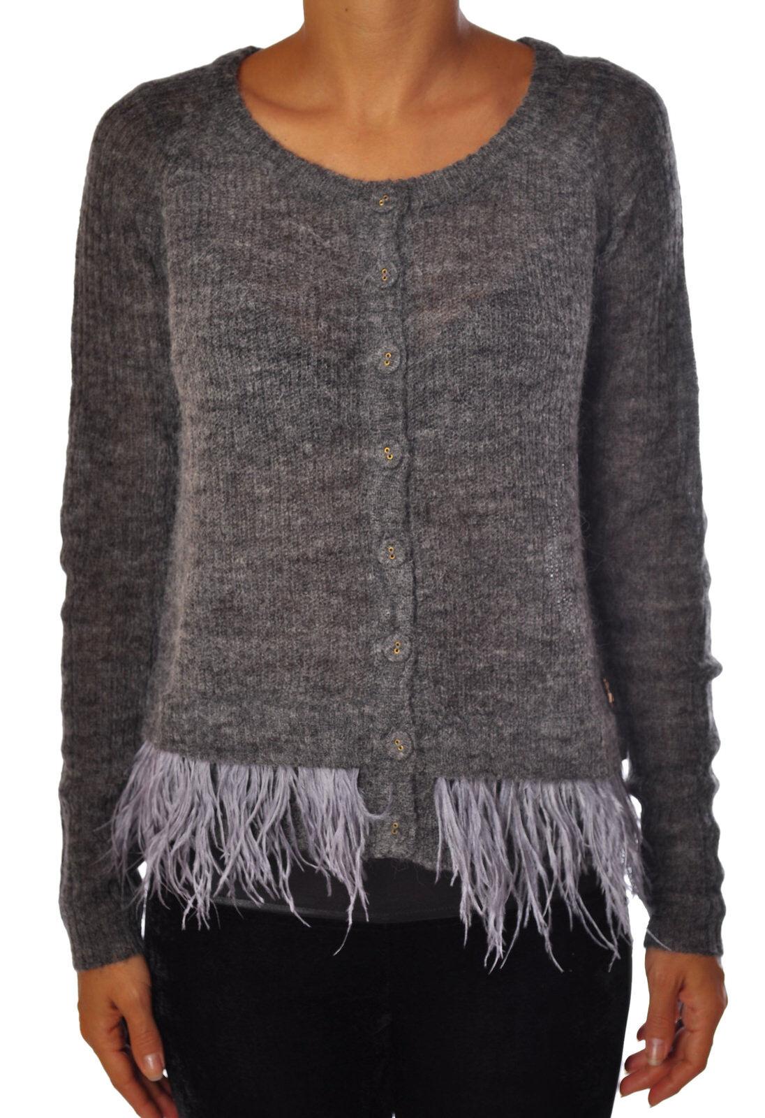 Patrizia Pepe - Knitwear-Cardigan - Woman - grau - 860018C183907