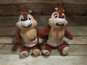 7-034-Chip-N-Dale-Plush-Stuffed-Animal-Beany-Walt-Disney-World-Exclusive