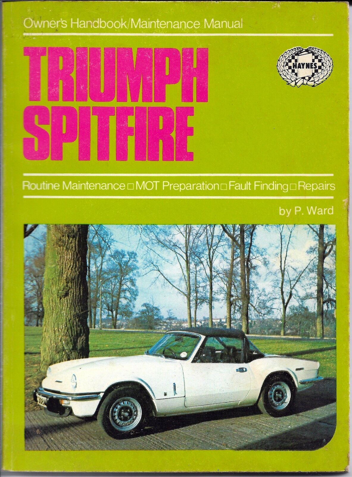 Triumph Spitfire Owners Handbook And Maintenance Manual By Pb