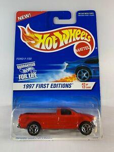 HOT-WHEELS-Vintage-Blue-Card-1997-PRIME-EDIZIONI-FORD-F-150-spedizione-in-scatola