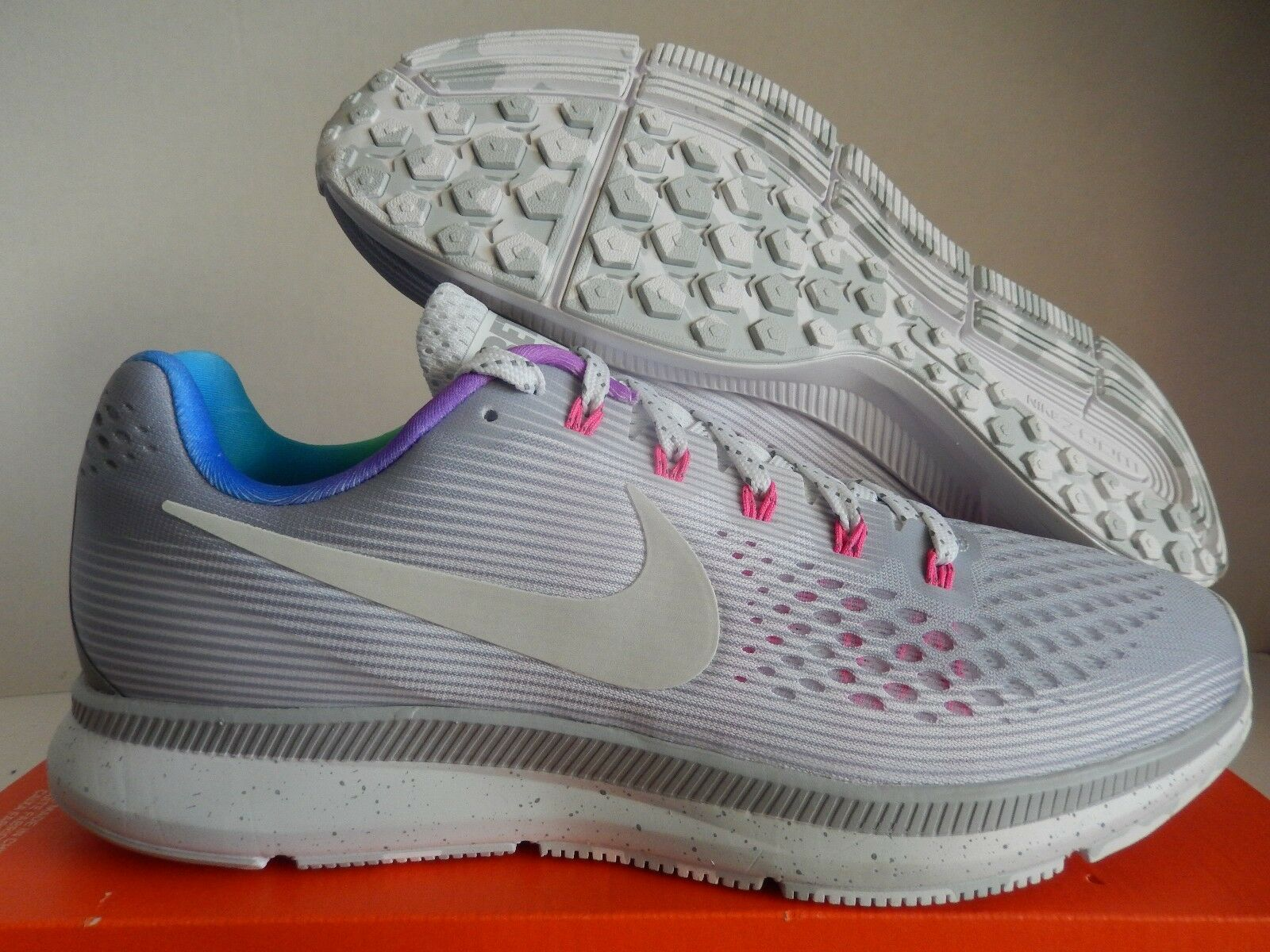NIKE ZOOM PEGASUS 34 BETRUE BE TRUE WOLF GREY-WHITE-PINK SZ 10 [899475-001]