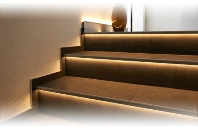 Treppenstufen LED Set FLORENTOSTEP-LED Dural 8-Stufen Set komplett mit LED&Trafo