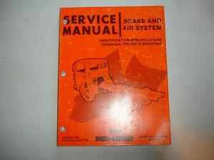 mack truck mid liner air brake system factory shop service manual rh ebay ie B Model Mack Truck Parts Mack Truck Parts Online