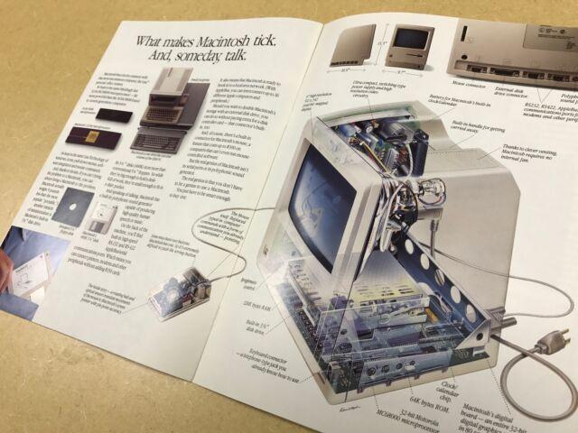 MINT - Macintosh Apple Computer Macintosh Introduction 20 pages brochure 12/1983