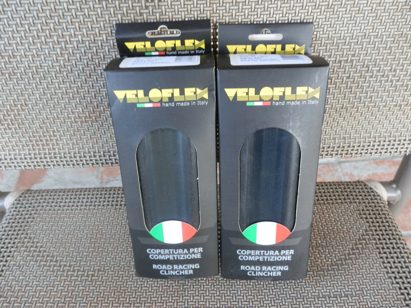TWO  (  2  )  Veloflex Corsa Clincher Tires 700 x 23