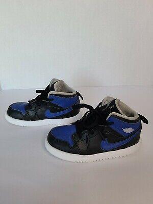 Nike Air Jordan 1 Mid Blue Black White 640734 048 Kids Youth Size