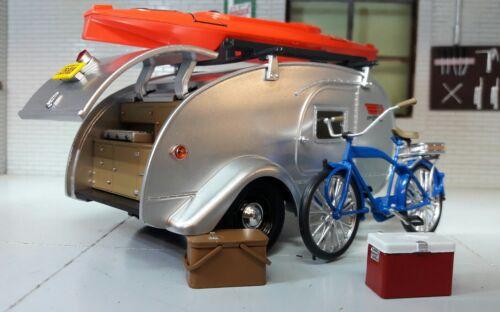 1:24 Escala Lágrima Ken Skill 1947 Eu Caravana Remolque /& Accesorios Metal Model