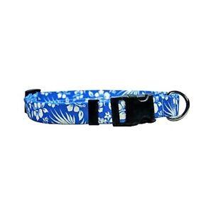 Section SpéCiale Nouveau Chien Bleu Et Collier Pour Chat En Bleu Aloha Hawaiian Fleurs Par Chien Jaune Design-afficher Le Titre D'origine