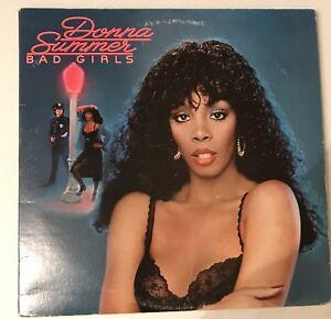 Donna-Summer-Bad-Girls-LP-Vinyl-Record-Double-Album-Original-1979-Pressing-EX