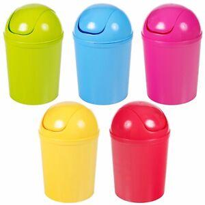 Plastic-5-Liter-Pedal-Operated-Waste-Dustbin-Rubbish-Garbage-Bin-Bathroom-Toilet