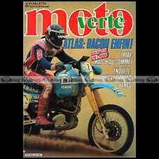 MOTO VERTE N°111 FANTIC 240 PRO JCM 323 SWM 350 JUMBO BACOU RALLYE ATLAS 1983