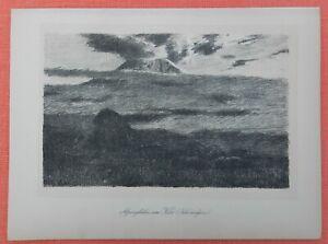 Section SpéCiale Alpes Recuit Kilimandjaro Mont Kilimandjaro Wilhelm Kuhnert Lithographie 1920-afficher Le Titre D'origine