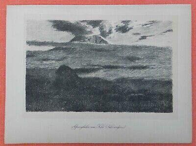 Alpenglühen Kilimandjaro Kilimandscharo Wilhelm Kuhnert Lithographie 1920 Zahlreich In Vielfalt