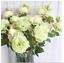 Peony Roses Artificial Silk Fake Flowers White Bridal Wedding Bouquet Home Decor