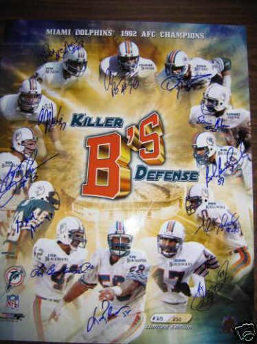 Duhe ,Baumhower, Bokamper Killer ' B'S Miami Dolphins Limitada Firmada Ed. 16x20