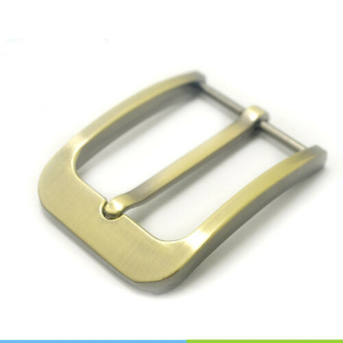 Zinc Alloy Pin Buckle For Snap On Leather Belt Spare 35mm Size Men Women Bronze