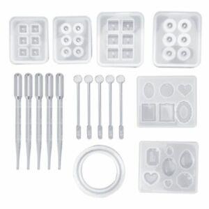 17-pcs-set-Resin-Casting-Molds-Epoxy-Handicraft-Kit-Silicone-Mold-Making-Jewelry