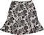 Apostrophe-Knee-Skirt-Beige-Black-Floral-Stretchy-Pleated-Hem-Size-XL thumbnail 1
