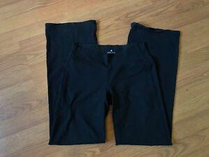 f10dde0589091 ATHLETA FUSION PANTS YOGA LEGGINGS WIDE LEG FLAP POCKETS BLACK SIZE ...