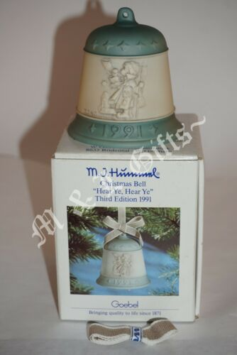Hummel Goebel Christmas Bell Series 1991 Hear Ye Hear Ye 777 Ornament MIB