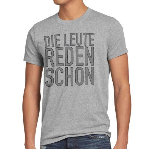 Die Leute reden schon Herren T-Shirt Funshirt Spruch Berlin spruchshirt hipster